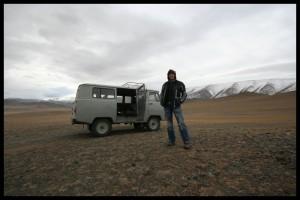 Heather and Russian Van - Mongolia
