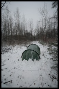 Snow on our Tent - Russia