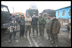 Russian road workers who helped us - Tynda