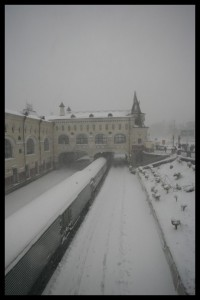 Snow at the Rail Station - Vladivostok